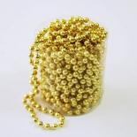 новогоднее украшение Ели Peneri (4мм/10м) JNP140623, бусы золотистые