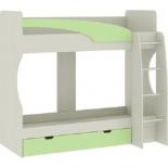 кровать Атлант Карамель 77-02 (2-х ярусная) Сосна карелия/Зеленый
