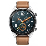 Умные часы Huawei Watch GT Steel Hybrid Strap, серые/коричневые