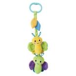 игрушка для малыша подвеска Жирафики Бабочка 939480 (с вибрацией, пищалкой и шуршалкой), зелёная