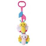игрушка для малыша подвеска Жирафики Бабочка 939481 (с вибрацией, пищалкой и шуршалкой), розовая