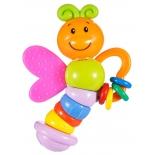 игрушка для малыша Прорезыватель-погремушка Жирафики Бабочка Мия
