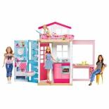 игрушки для девочек Домик Barbie DVV48 + кукла
