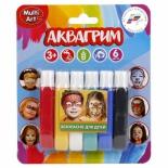 детская косметика грим MultiArt Аквагрим (для лица, 6 цветов), 12019-R