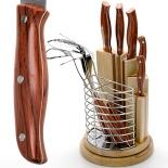 набор кухонных ножей MAYER&BOCH 23627 10 предметов (крутящаяся подставка)