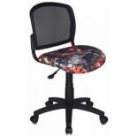кресло офисное Бюрократ CH - 296NX, черный с рисунком