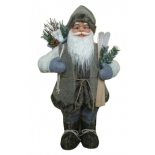 новогоднее украшение Дед Мороз (60см) Фигурка серая
