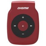 аудиоплеер Digma P2, красный/черный