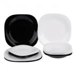столовый сервиз Набор Luminarc Carine Mix (N1489), черно-белый