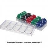аксессуар для покера Подставка (трей) на 100 фишек для покера (акрил)