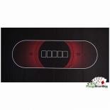 аксессуар для покера Сукно для покера Hold'em Manager (180х90х0,2см),  черно-красное