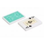 игральные карты Fournier 2818 100% пластик, зеленый