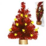 новогодняя елка Декор Торг-Хаус из мишуры, 25 см, красная