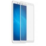 защитное стекло для смартфона Red Line для Xiaomi Redmi 6/6A  FULL GLUE, белое