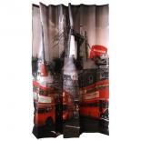 занавесь для ванной комнаты Рыжий кот, 879 Curtain-Bus Лондонский автобус (180х180см)