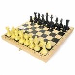 шахматы Владспортпром Айвенго обиходные (пластик) с деревянной шахматной доской