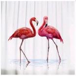 занавесь для ванной комнаты Brimix 02-08, Розовые фламинго (фотопечать)