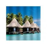 занавесь для ванной комнаты Brimix 02-14, Райский остров (фотопечать)