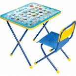 парта детская комплект Ника КП Познайка (стол и стул), Азбука
