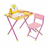 парта детская комплект Ника Д4Б Disney 4 (стол и стул), Белль