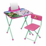 парта детская комплект Ника Д2Ф1 Disney 2 Азбука, (стол и стул), Феи