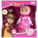 кукла озвученная Карапуз Маша и Медведь Маша с мишкой, 15 см, 83031X (24)