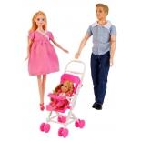 кукла Набор Карапуз София беременная с семьей, 29 см, 99144-S-AN
