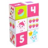 игрушка Мякиши Малышарики кубики, Учим формы, цвет и счёт (400)