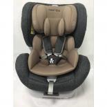 автокресло детское Torego JM05 IsoFix 0-1-2 (0-25 кг), серое/лен