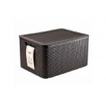 контейнер для хранения Curver 03619-210 Rattan Style Box M, тёмно-коричневый