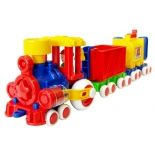 каталка Наша игрушка Паровозик Ромашка с 2 вагонами (С-119-Ф)