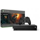 игровая приставка Microsoft Xbox One X 1Тб CYV-00106 с игрой Shadow of the Tomb Raider, черная