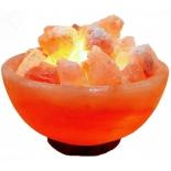 солевой светильник Дом Велеса Ваза с камнями (3 - 5 кг)
