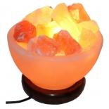солевой светильник Дом Велеса Ваза с камнями 1.5 - 2 кг (12 см)