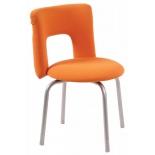 кресло офисное Бюрократ KF-1/ORANGE26-29-1, оранжевое