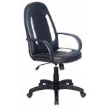 компьютерное кресло Бюрократ CH-826/B+WH, черное с белыми вставками