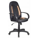 компьютерное кресло Бюрократ CH-826/B+BG, черное с бежевыми вставками