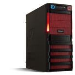 корпус Crown ATX CMC-SM162 black/red 450W