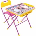 парта детская набор Ника КПУ2П Маша и медведь (стол и стул), Азбука 3