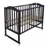 детская кроватка Малика Laura-1 (колесо, качалка), венге