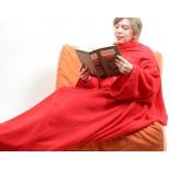 плед Одеяло-плед с рукавами Snuggle (Снагги), красное