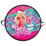 санки-ледянки 1TOY Barbie круглая 52 см Т58482