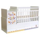 детская кроватка Фея 1100 Прогулка, белая