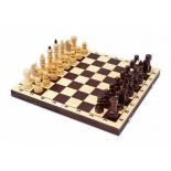 шахматы Орловская ладья обиходные лак с темной доской, дерево