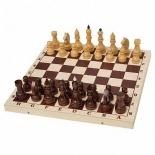 шахматы Орловская ладья турнирные утяжеленные в комплекте с доской (Орлов), дерево