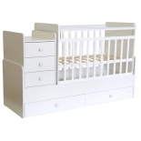 детская кроватка Фея 1100 белая