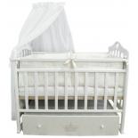 детская кроватка By Twinz Версаль, поперечный маятник, белая