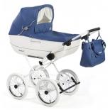 коляска Reindeer Vintage (люлька) V-4, синяя