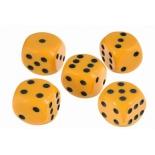 нарды Кости игральные РФН  пластиковые, 10 мм, 1 шт, желтый