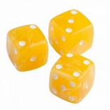 нарды Кости игральные из янтаря 13 мм желтые, 1 шт.